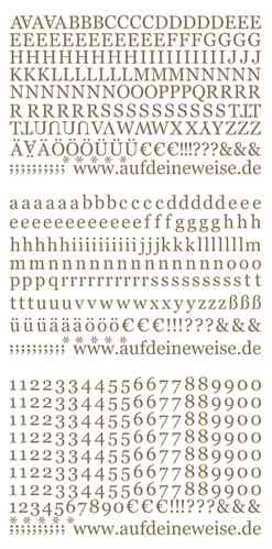 Grazia Alphabet Stickers Gold – 3/PK